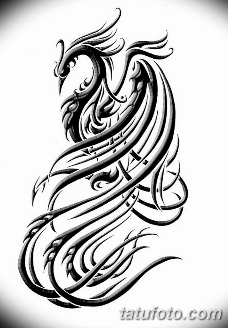 эскизы тату феникса для девушек 08.03.2019 №026 - tattoo sketches - tatufoto.com