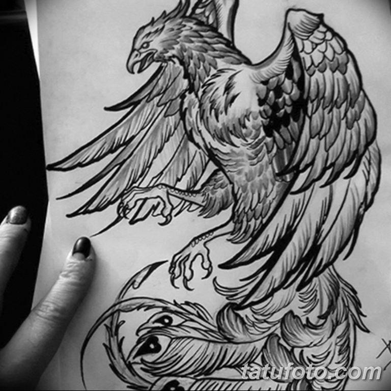 эскизы тату феникса для девушек 08.03.2019 №027 - tattoo sketches - tatufoto.com