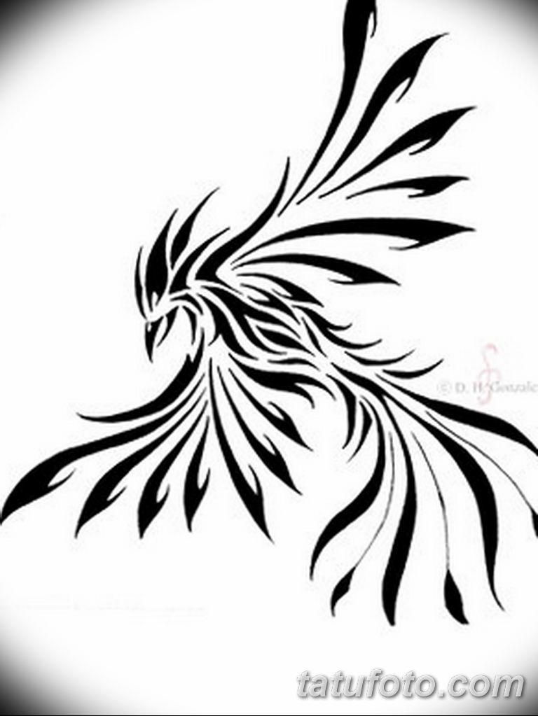 эскизы тату феникса для девушек 08.03.2019 №032 - tattoo sketches - tatufoto.com