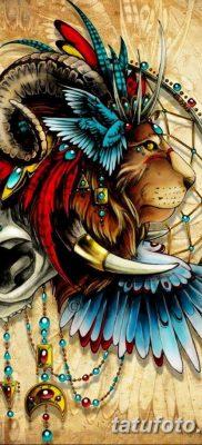 эскизы тату цветные мужские 09.03.2019 №010 – tattoo sketches – tatufoto.com