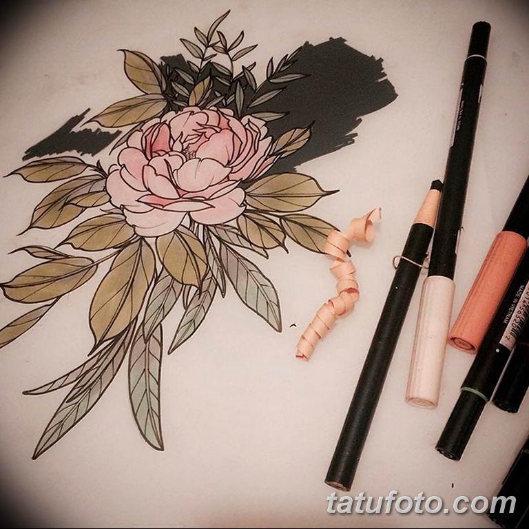 эскизы цветных тату для девушек 08.03.2019 №007 - tattoo sketches - tatufoto.com