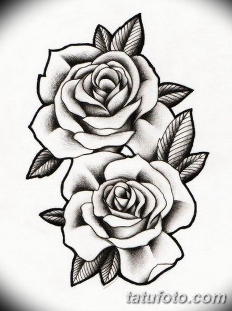 эскиз розы для тату девушке 08.03.2019 №001 - tattoo sketches - tatufoto.com