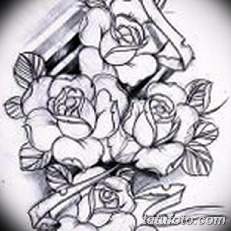 эскиз розы для тату девушке 08.03.2019 №006 - tattoo sketches - tatufoto.com