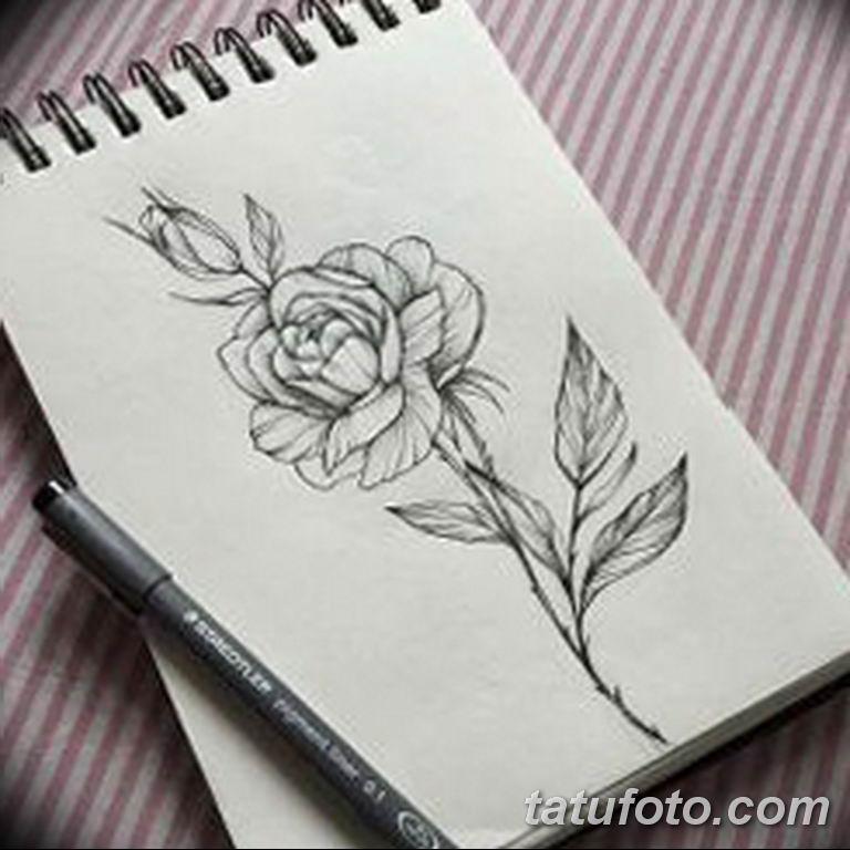 эскиз розы для тату девушке 08.03.2019 №008 - tattoo sketches - tatufoto.com