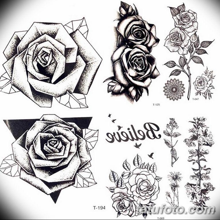 эскиз розы для тату девушке 08.03.2019 №017 - tattoo sketches - tatufoto.com
