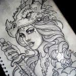 эскиз тату для девушки 08.03.2019 №015 - tattoo sketches for girls - tatufoto.com