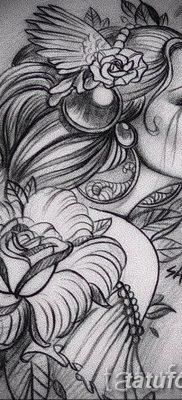 эскиз тату для девушки 08.03.2019 №060 – tattoo sketches for girls – tatufoto.com