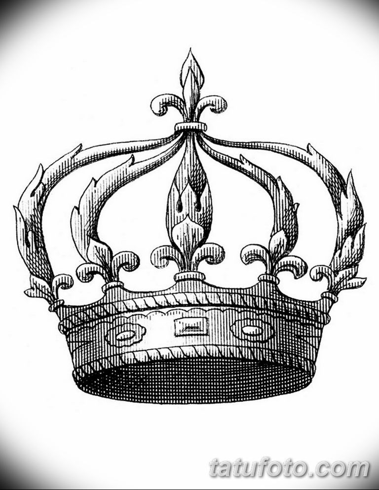эскиз тату корона для девушек 08.03.2019 №003 - tattoo sketches - tatufoto.com