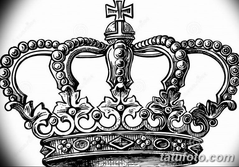эскиз тату корона для девушек 08.03.2019 №004 - tattoo sketches - tatufoto.com