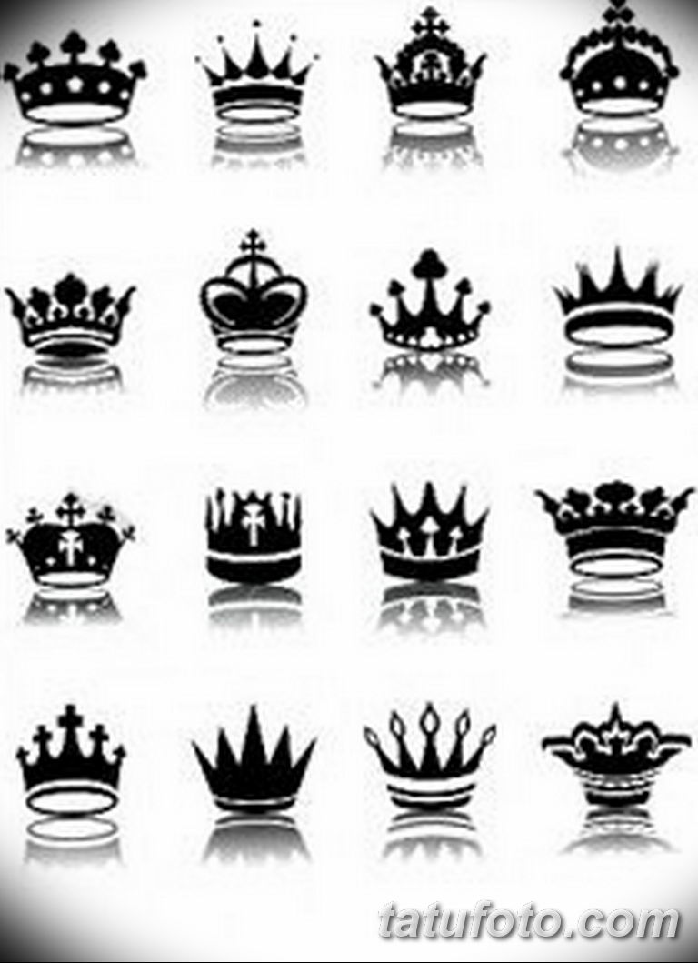 эскиз тату корона для девушек 08.03.2019 №006 - tattoo sketches - tatufoto.com