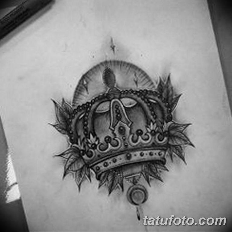 эскиз тату корона для девушек 08.03.2019 №016 - tattoo sketches - tatufoto.com