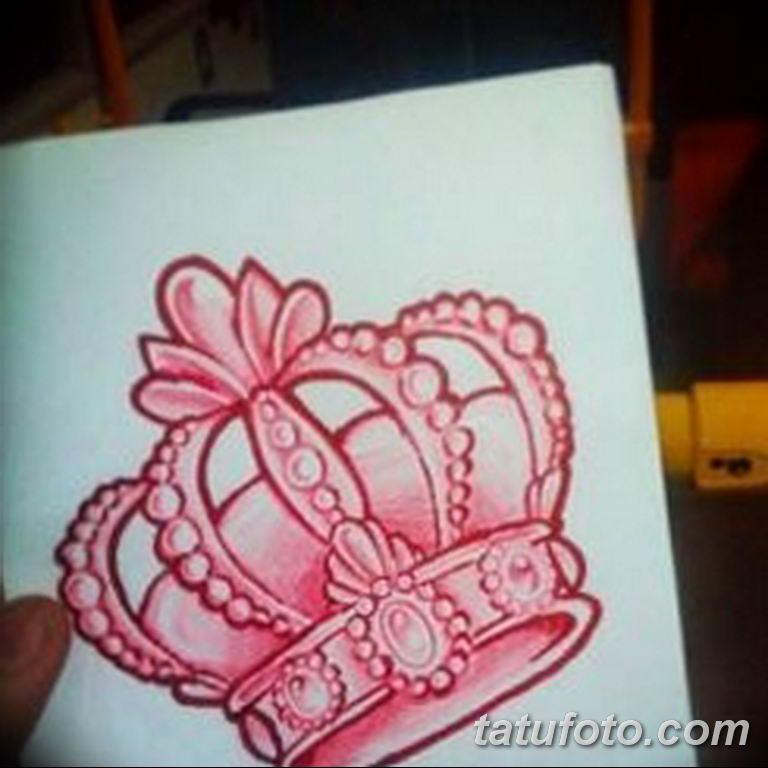 эскиз тату корона для девушек 08.03.2019 №023 - tattoo sketches - tatufoto.com