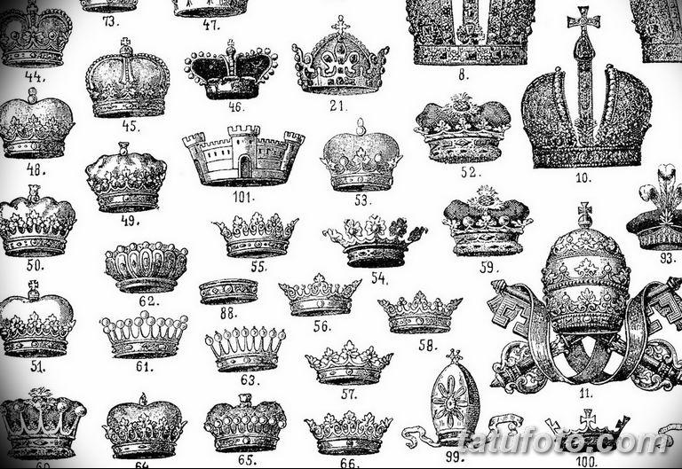 эскиз тату корона для девушек 08.03.2019 №028 - tattoo sketches - tatufoto.com