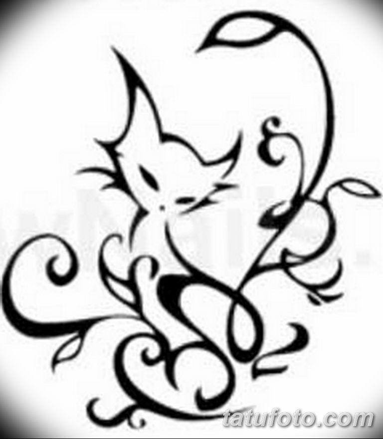 эскиз тату кошка для девушек 08.03.2019 №004 - tattoo sketches - tatufoto.com