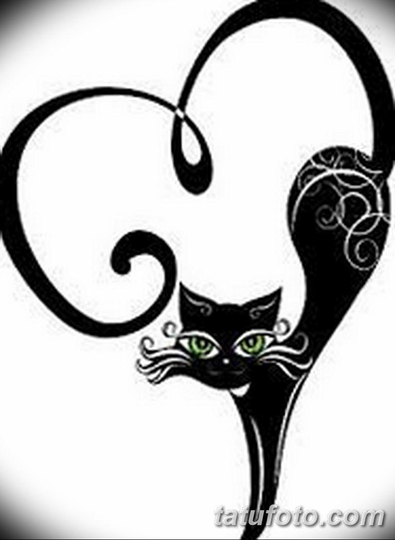 эскиз тату кошка для девушек 08.03.2019 №007 - tattoo sketches - tatufoto.com