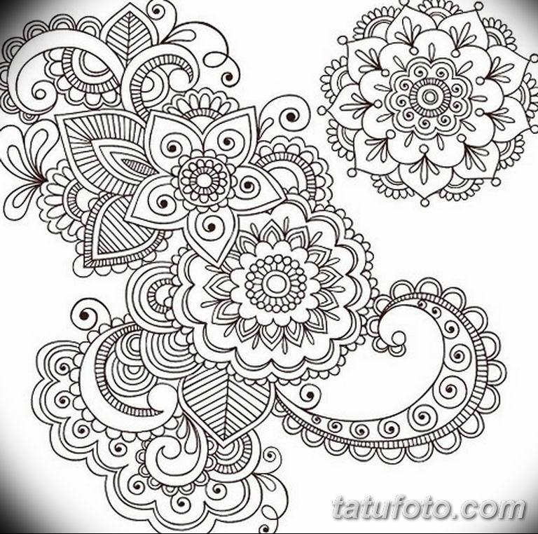 эскиз тату мандала для девушек 08.03.2019 №007 - tattoo sketches - tatufoto.com