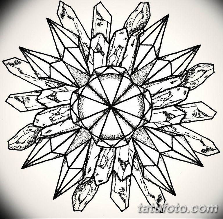 эскиз тату мандала для девушек 08.03.2019 №008 - tattoo sketches - tatufoto.com