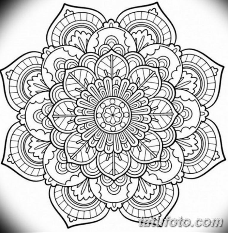 эскиз тату мандала для девушек 08.03.2019 №009 - tattoo sketches - tatufoto.com