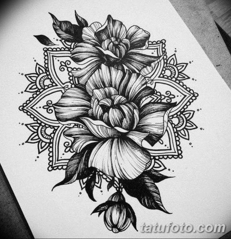 эскиз тату мандала для девушек 08.03.2019 №014 - tattoo sketches - tatufoto.com