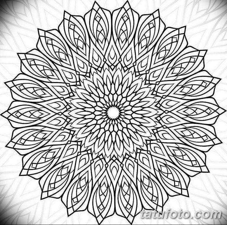 эскиз тату мандала для девушек 08.03.2019 №015 - tattoo sketches - tatufoto.com