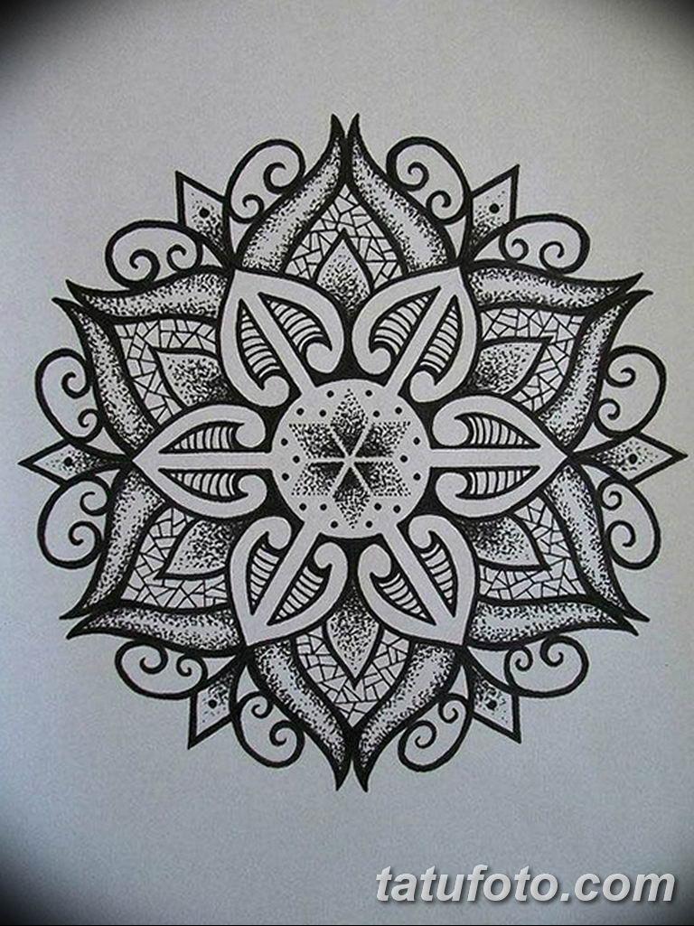 эскиз тату мандала для девушек 08.03.2019 №020 - tattoo sketches - tatufoto.com