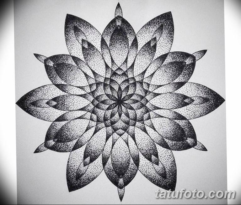 эскиз тату мандала для девушек 08.03.2019 №021 - tattoo sketches - tatufoto.com