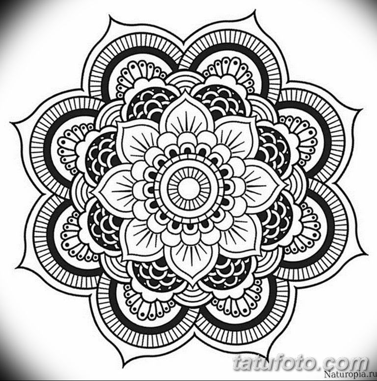 эскиз тату мандала для девушек 08.03.2019 №022 - tattoo sketches - tatufoto.com
