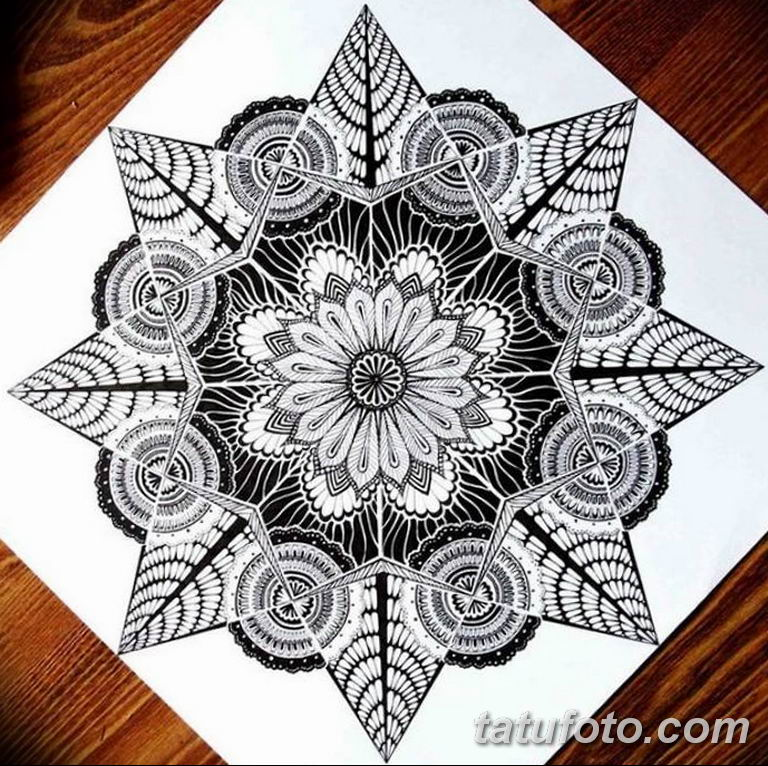 эскиз тату мандала для девушек 08.03.2019 №025 - tattoo sketches - tatufoto.com