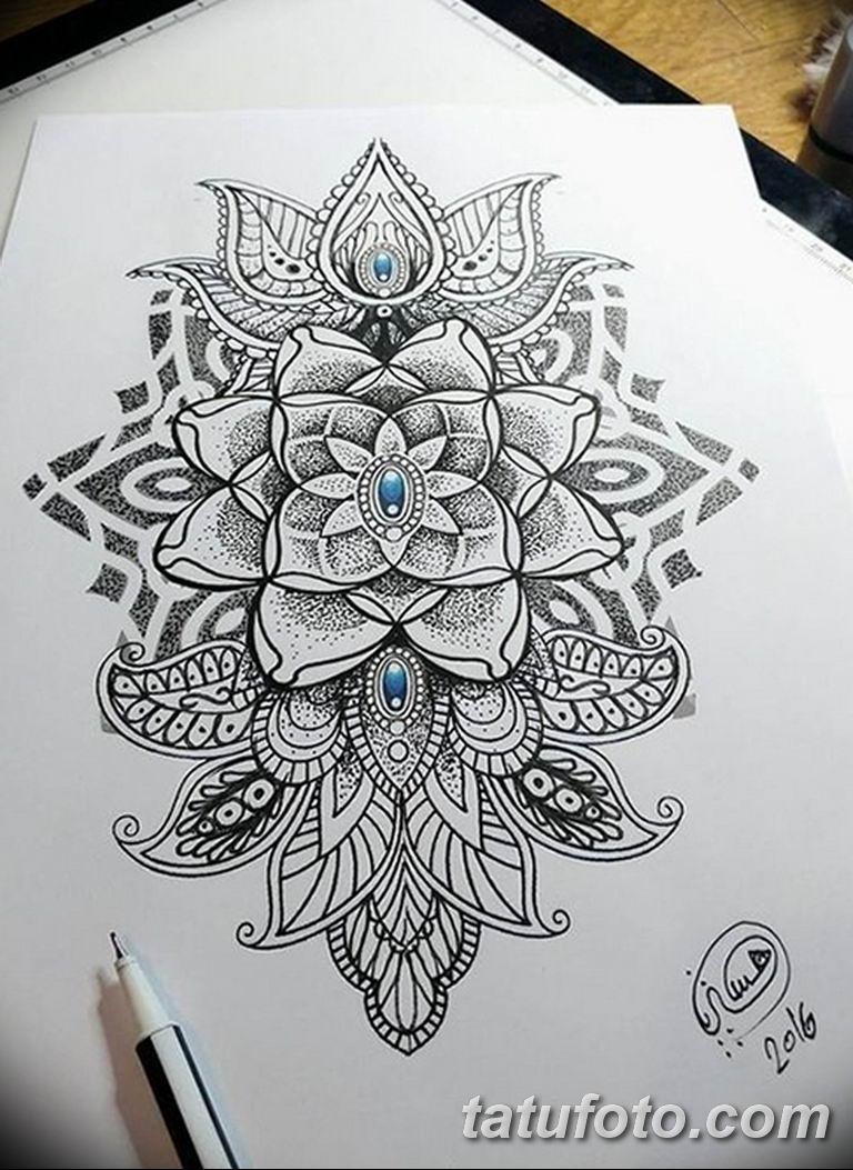 эскиз тату мандала для девушек 08.03.2019 №026 - tattoo sketches - tatufoto.com