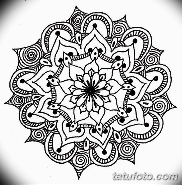 эскиз тату мандала для девушек 08.03.2019 №027 - tattoo sketches - tatufoto.com