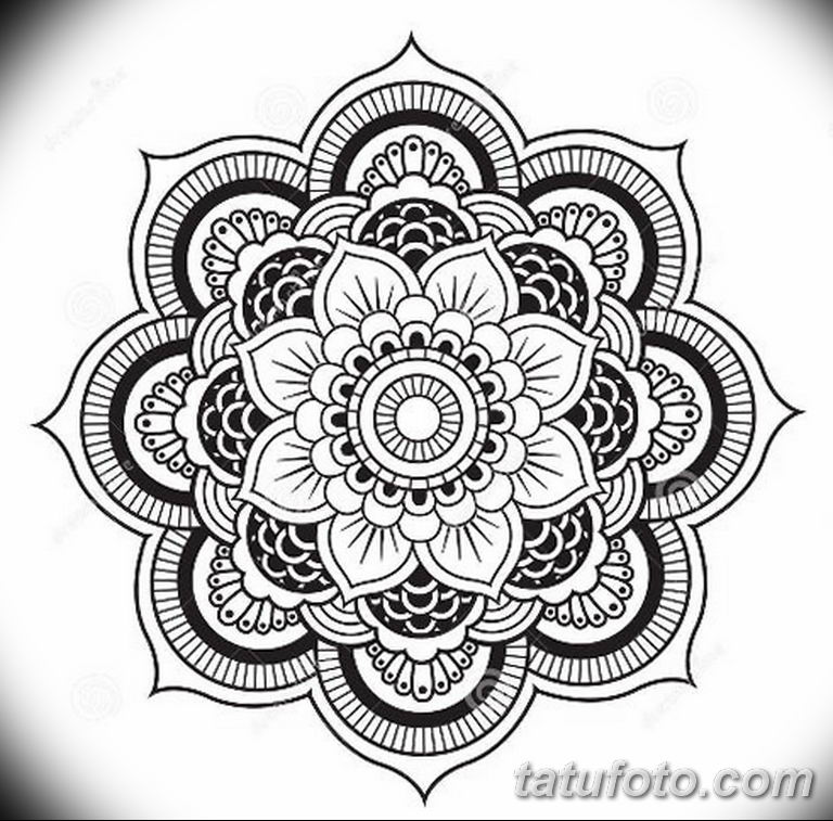 эскиз тату мандала для девушек 08.03.2019 №029 - tattoo sketches - tatufoto.com