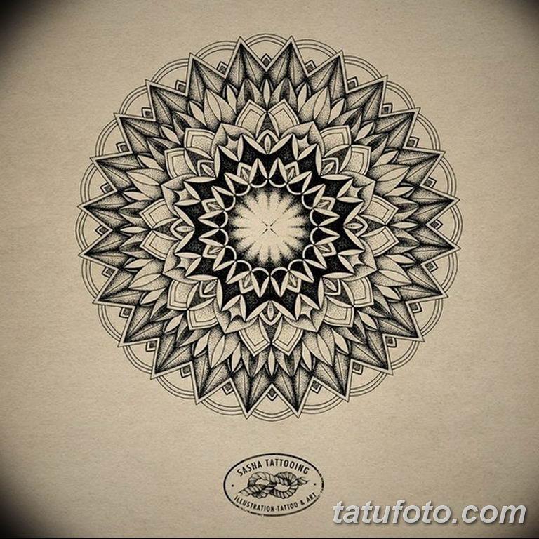 эскиз тату мандала для девушек 08.03.2019 №031 - tattoo sketches - tatufoto.com