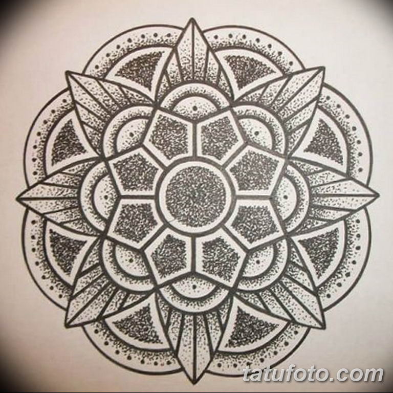 эскиз тату мандала для девушек 08.03.2019 №032 - tattoo sketches - tatufoto.com