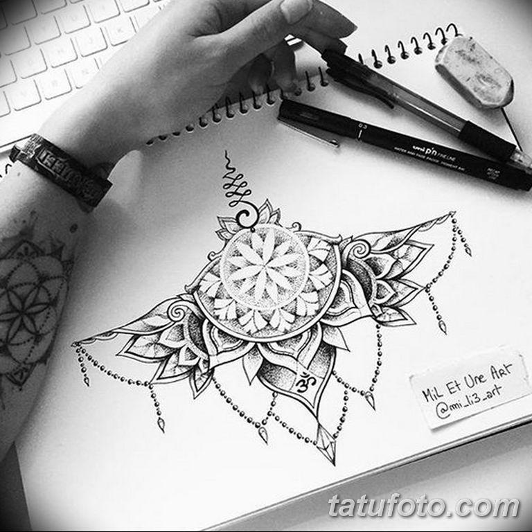 эскиз тату на грудь девушке 08.03.2019 №005 - tattoo sketches - tatufoto.com