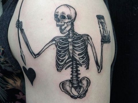 фото идея вариант тату скелет 26.03.2019 №002 - skeleton tattoo - tatufoto.com