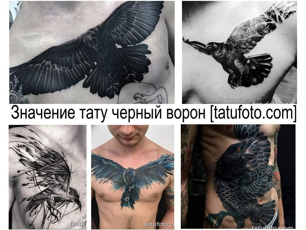 Значение тату черный ворон - информация про особенности рисунка и коллекция фото примеров готовых работ