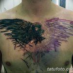 Фото тату черный ворон 15.04.2019 №022 - ideas black raven tattoo - tatufoto.com