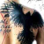 Фото тату черный ворон 15.04.2019 №026 - ideas black raven tattoo - tatufoto.com