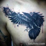 Фото тату черный ворон 15.04.2019 №040 - ideas black raven tattoo - tatufoto.com