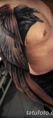 Фото тату черный ворон 15.04.2019 №057 – ideas black raven tattoo – tatufoto.com