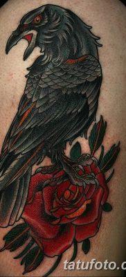 Фото тату черный ворон 15.04.2019 №058 – ideas black raven tattoo – tatufoto.com