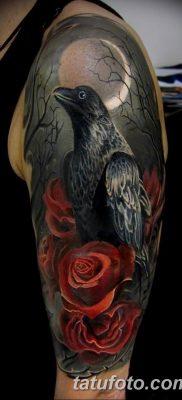 Фото тату черный ворон 15.04.2019 №066 – ideas black raven tattoo – tatufoto.com