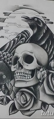 Фото тату черный ворон 15.04.2019 №075 – ideas black raven tattoo – tatufoto.com