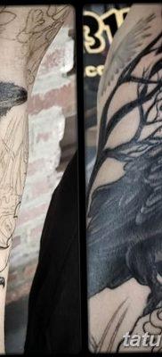 Фото тату черный ворон 15.04.2019 №078 – ideas black raven tattoo – tatufoto.com