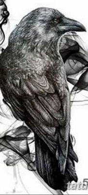 Фото тату черный ворон 15.04.2019 №084 – ideas black raven tattoo – tatufoto.com