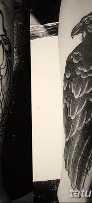 Фото тату черный ворон 15.04.2019 №087 – ideas black raven tattoo – tatufoto.com