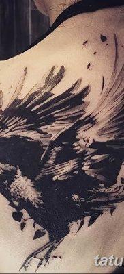 Фото тату черный ворон 15.04.2019 №095 – ideas black raven tattoo – tatufoto.com