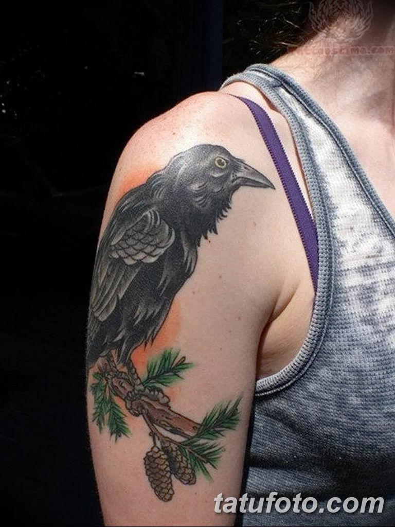 Фото тату черный ворон 15.04.2019 №104 - ideas black raven tattoo - tatufoto.com