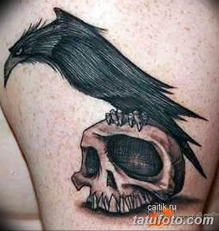 Фото тату черный ворон 15.04.2019 №114 - ideas black raven tattoo - tatufoto.com