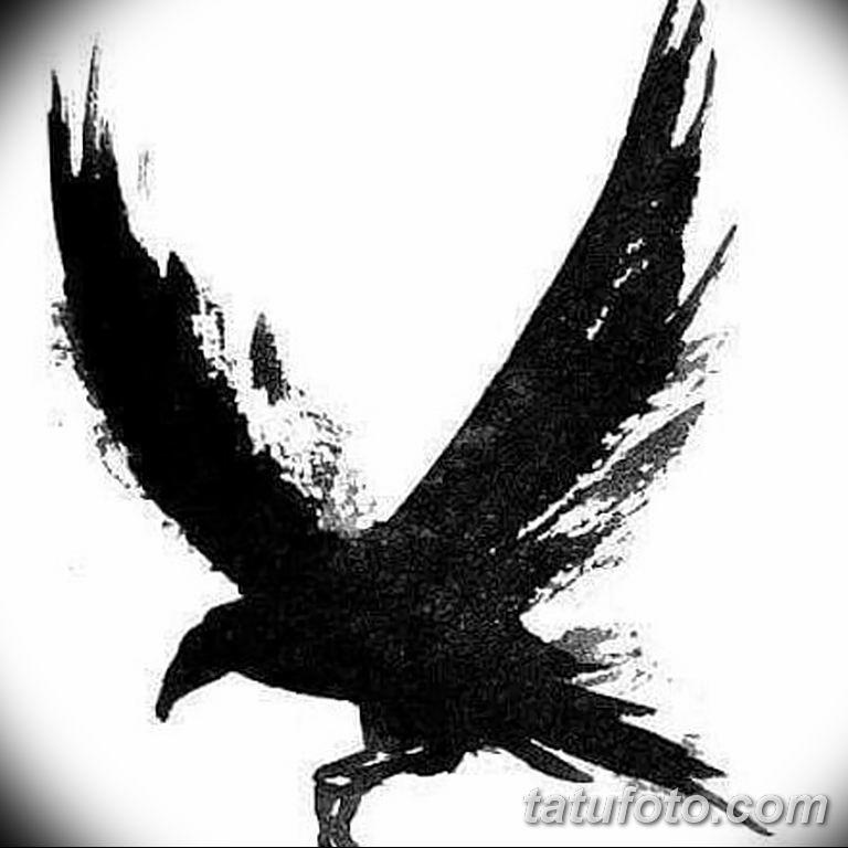 Фото тату черный ворон 15.04.2019 №117 - ideas black raven tattoo - tatufoto.com